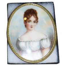 Miniature Painting of Busty Woman