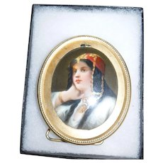 Miniature Painting Princess 19th cen.