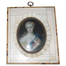 Miniature painting Beautiful Woman