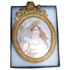Josephine Miniature painting on Ivory