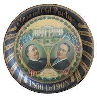 William Howard Taft..James Schoolcraft Sherman Pres. Tip tray 1908
