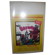 Movie Poster Batman window card 1966