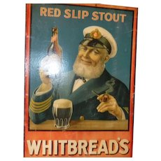 Whitbread's Red Stout sign