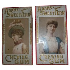 Early pair of Adams Fern gum display boxes