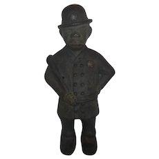 Large Black police man