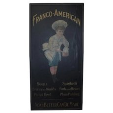 Early Franco American wood sign