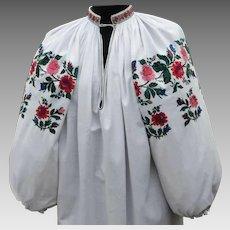 Ukrainian vintage dress 1950s   Vintage Ukrainian embroidery   Vyshyvanka embroidery dress   Sorochka Ukrainian   vintage Embroired dress   Folk dress   Vintage clothing   Vintage fashion    Women's clothing 