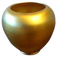 Signed Pre 1932 Steuben Orange Gold Aurene Shade