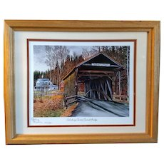Limited Edition Thelma Winter Print Salisbury Center Covered Bridge