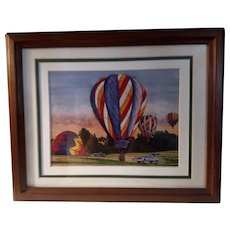 Vintage Signed Limited Edition Thelma Winter Print Titled Lift Off