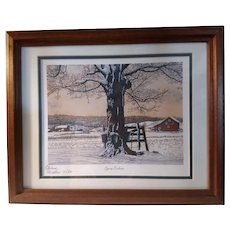 Vintage Signed Limited Edition Thelma Winter Print Titled Syrup Buckets