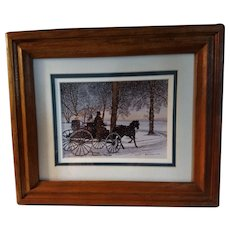 Vintage Signed Limited Edition Thelma Winter Print Titled Gentlemen's Carriage