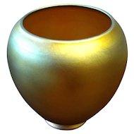 Signed Pre 1932 Steuben Aurene Orange Gold Shade