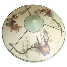 Vintage Painted Milk Glass Birds Of Paradise Floor Lamp Shade Fixture