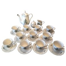 25 Piece Nikko Japan Christmas Tree Tea Set