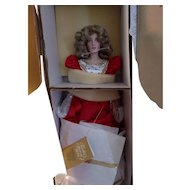 Vintage Franklin Heirloom Queen Of Hearts Doll New In Box