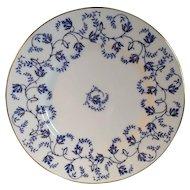 Coalport 10 1/2 inch Blue & White Dinner Plate