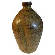 2005 Mustard Pinch Vase by Dwayne Crocker