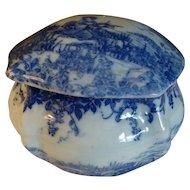 Japanese Geisha Vantine Porcelain Oriental Lidded Dresser Vanity Box