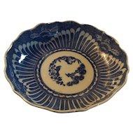 Old Blue and White Oriental Imari Rice Bowl