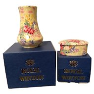 Royal Winton Grimwades Chintz Vase & Matching Trinket Box