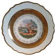 Large 14 1/4 inch Adams Antiques Steubenville Cabinet Charger Plate
