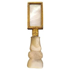 Early 19th century mother of pearl Palais Royal gentleman's moustache brush