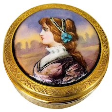 Limoges silver gilt and enamel box