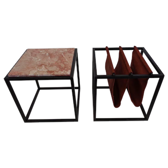 George Zalszupin Linha Domino tavolino e portariviste - design brasiliano