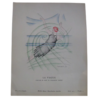 Tavola litografica futurismo Thayat 1923
