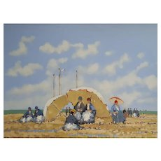 Plage au Prieure by Frederick McDuff (1931-2011)