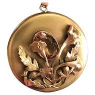 """GNS Circa 1906-1911 Antique George Steere HUGE 2"""" Diameter Jeweled Locket"""