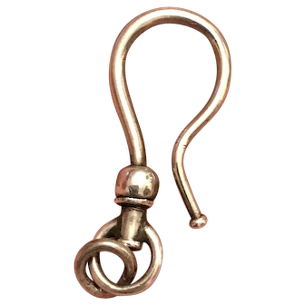 Antique Victorian Sterling Silver Swivel Watch Hook Finding