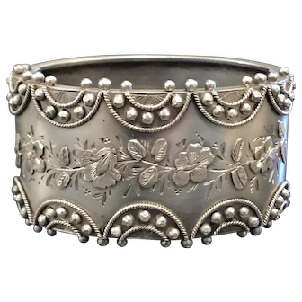Antique Victorian Silver Bangle Duplex Reliance Robinson's Patent