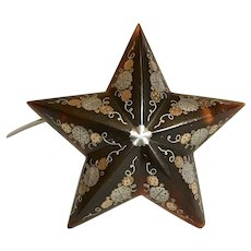 Antique Victorian Pique STAR Brooch