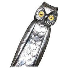 Antique Edwardian OWL Sterling Novelty Pencil