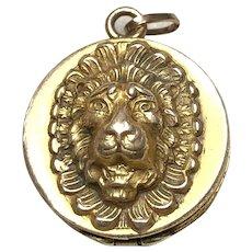 Antique Victorian High Relief LION Locket Fob