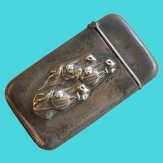Vintage Sterling Silver Race Horse Match Safe