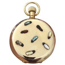 Stunning & Rare Antique Japanese Meiji Period (Victorian/Edwardian) Shibayama Gold Filled Pocket Watch