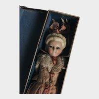 Wax Over Papier-mache Pumpkin Head with her original box