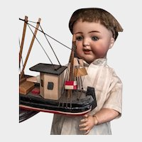 German K&R Kammer&Reinhardt KR126 boy doll on toddler body  34 cm