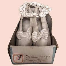 Charming Marriage antique French shoes with their Original box