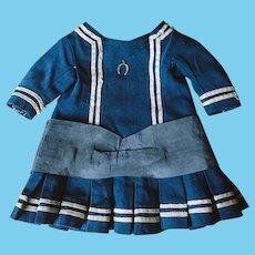 Original Antique Marine Dress for French Bebe Bru Jumeau Steiner Gaultier doll
