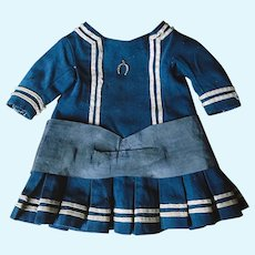 Original Antique Marine Dress for French Bebe Bru Jumeau Steiner Gaultier doll