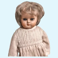 German Papier Mache doll in All Original Condition