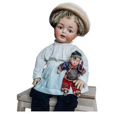 Lovely Big Character Heubach with flirty eyes on toddler body 60 cm