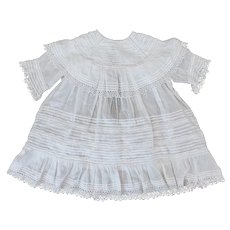 Dainty White Antique Dress for doll or child