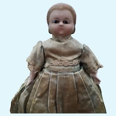 Tiny Wax Over Doll Alice Type Motschmann body with vocal box