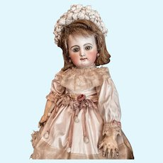 """Wonderful Early French Bebe Rabery & Delphieu  RD Doll Cabinet Size 16"""""""