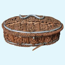 Charming Early French Straw Box